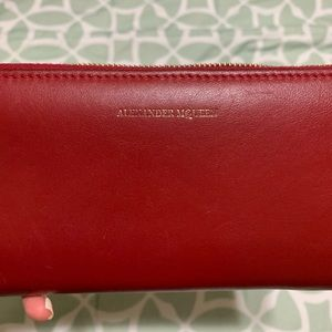 Alexander McQueen Red Wallet